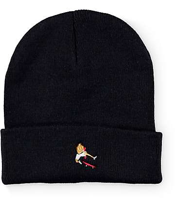#EVERYBODYSKATES Boxer Black Beanie