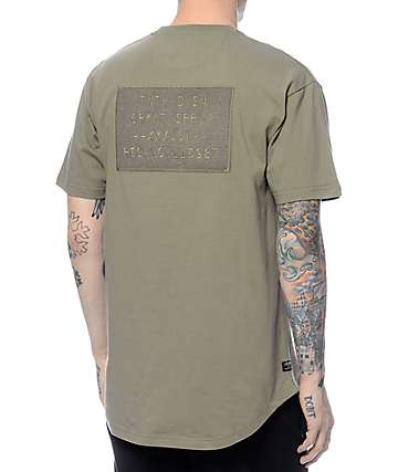 10 Deep AWOL Scoop Bottom Army Green T-Shirt