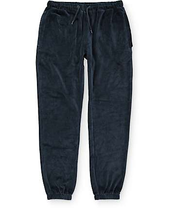 10 Deep Cozies Velour Black Pants