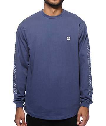 10 Deep Dotted Scoop Bottom Long Sleeve T-Shirt