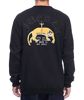 10 Deep Fuerza Black Crew Neck Sweatshirt