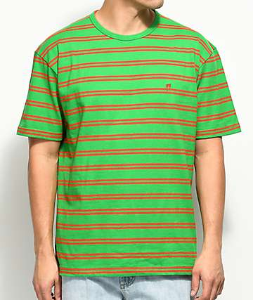 10 Deep I'm Still Here Stripe Knit Green T-Shirt