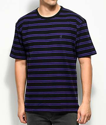 10 Deep I'm Still Here Stripe Knit Purple T-Shirt