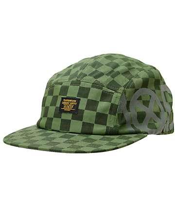 10 Deep Ironsides Green Navigator Camper 5 Panel Hat