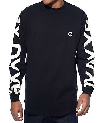 10 Deep Ironsides Scalloped Hem Black Long Sleeve T-Shirt