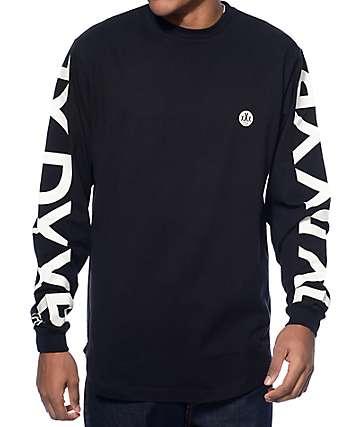 10 Deep Ironsides Scalloped Hem Black Long Sleeve T-Shirt