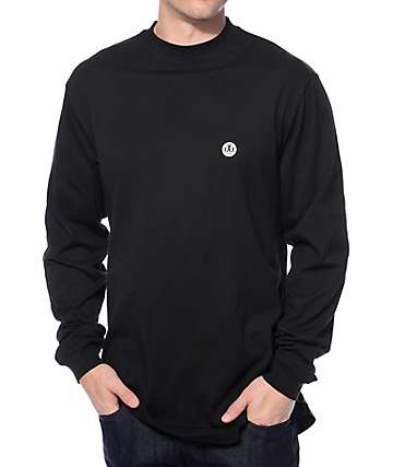 10 Deep Isolation Black Scoop Bottom Long Sleeve T-Shirt