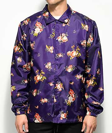 10 Deep Loving Memory Purple Coaches Jacket