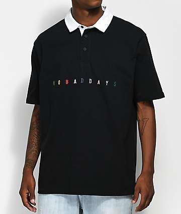 10 Deep No Bad Days camiseta polo negra