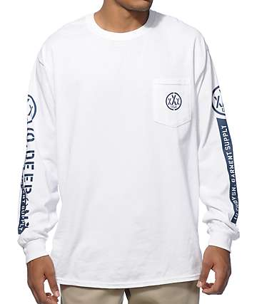 10 Deep Off Short Long Sleeve Pocket T-Shirt