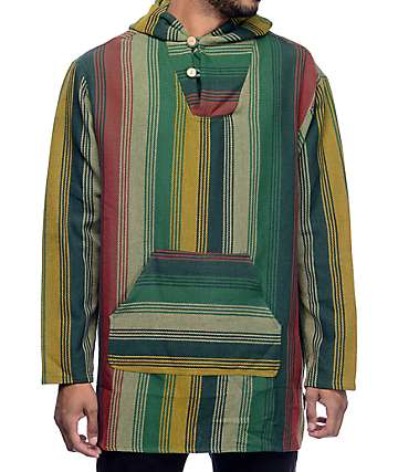 10 Deep Outland Green Multi Poncho