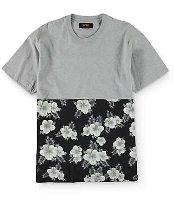 10 Deep Raise Up Split Grey T-Shirt