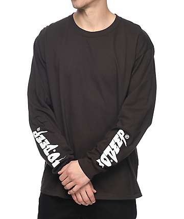 10 Deep Sound & Fury Long Sleeve Brown T-Shirt