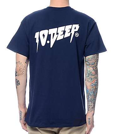 10 Deep Sound & Fury Navy T-Shirt