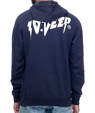 10 Deep Sound And Fury Navy Hoodie