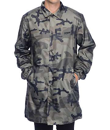 10 Deep Sound and Fury Camo Coaches Jacket