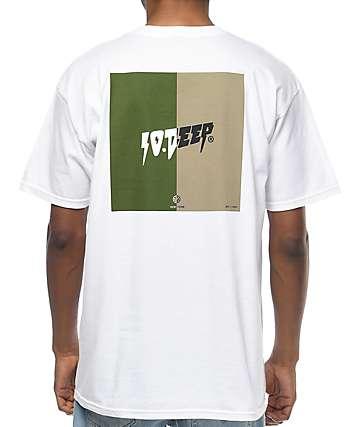 10 Deep Split White T-Shirt