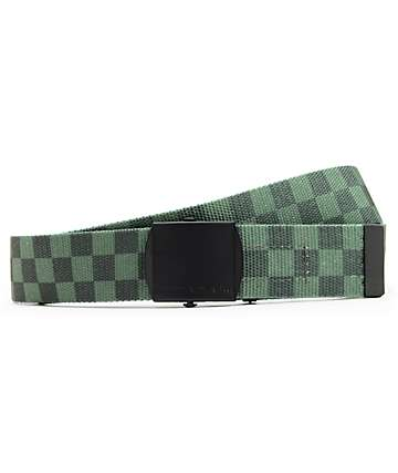 10 Deep Standard Issue Green Checkered Web Belt