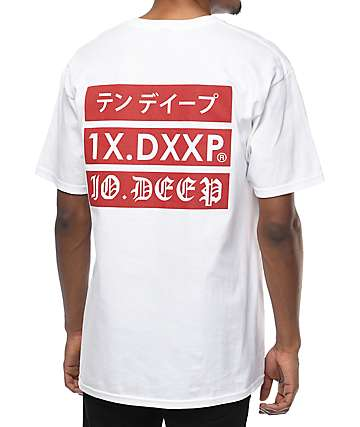 10 Deep Triple Stack 2 White T-Shirt