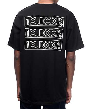10 Deep Triple Stack Black T-Shirt