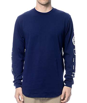 10 Deep Triple X Long Sleeve Navy T-Shirt
