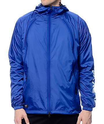 10 Deep Triple Zip Blue Nylon Shell Jacket
