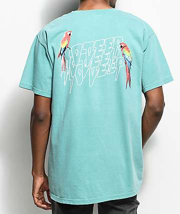 10 Deep Tropical Shock Teal T-Shirt