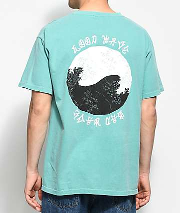 10 Deep Waves Teal T-Shirt