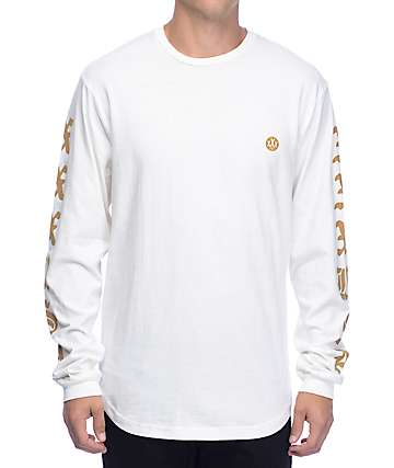 10 Deep XXX USA White Long Sleeve T-Shirt