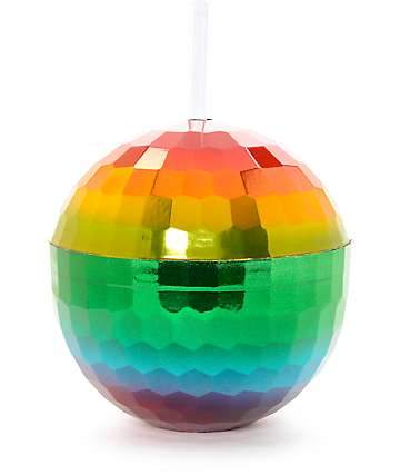 12 oz Rainbow Disco Ball Cup