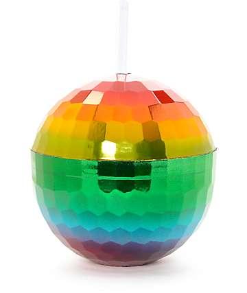 12 oz Rainbow Disco Ball Cup