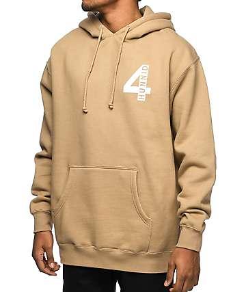 4 Hunnid 4 Logo Khaki Hoodie