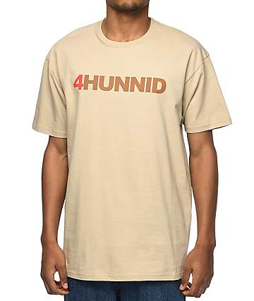 4 Hunnid Title Khaki T-Shirt