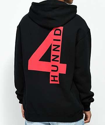 4 Hunnid Triple 4 Black Hoodie