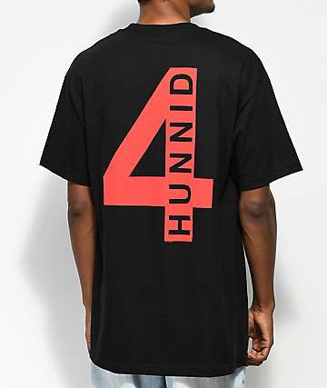 4 Hunnid Triple 4 Black T-Shirt