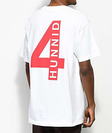 4 Hunnid Triple 4 White T-Shirt