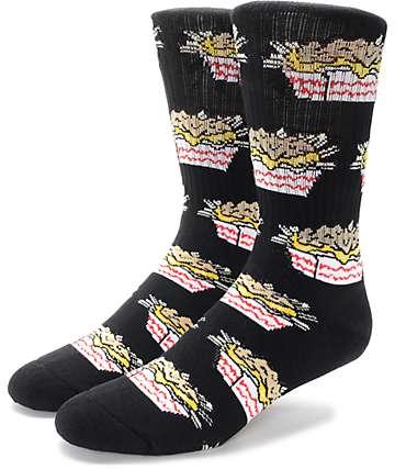 40's & Shorties Carnivore Fries Black Crew Socks