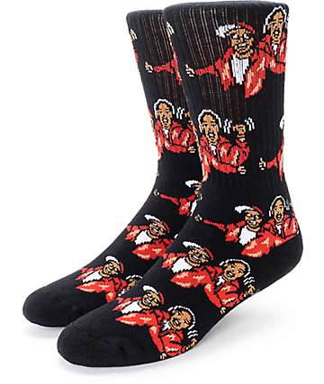 40's & Shorties Harlem World Black Crew Socks