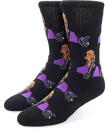 40's & Shorties Raw Black Crew Socks