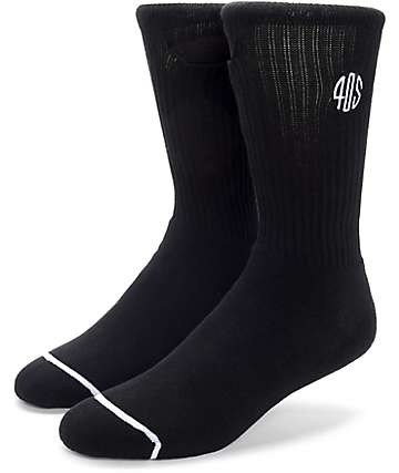 40's & Shorties Standard Pocket Black Crew Socks 2 Pack