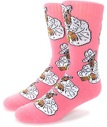 40's & Shorties Sweet Jones Pink Crew Socks