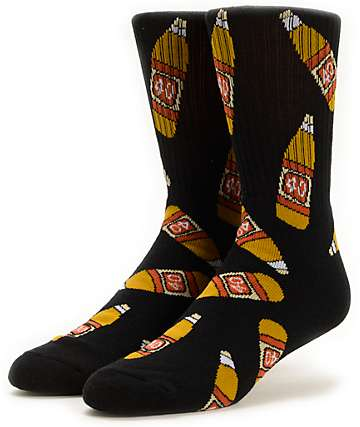 40s & Shorties 40s Black Crew Socks
