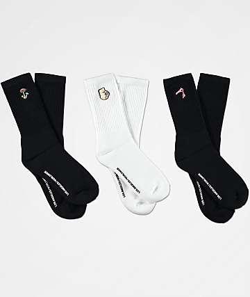 40s & Shorties Crojoit, Panty & Shroom 3 Pack calcetines