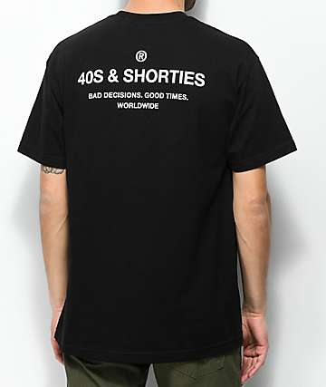 40s & Shorties General Black & White T-Shirt