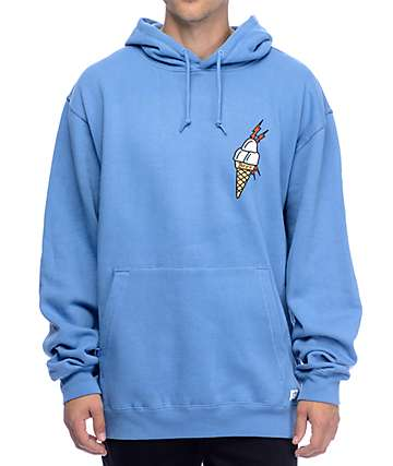 40s & Shorties Ice Cream Light Blue Hoodie