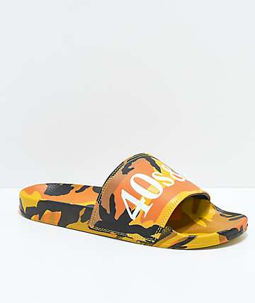 40s & Shorties Jungle Camo Slide Sandals