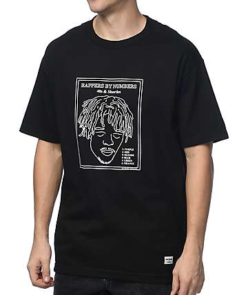 40s & Shorties Rap By Numbers Black T-Shirt