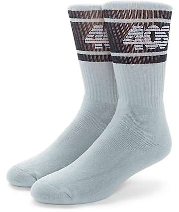 40s & Shorties Stripe Grey Crew Socks