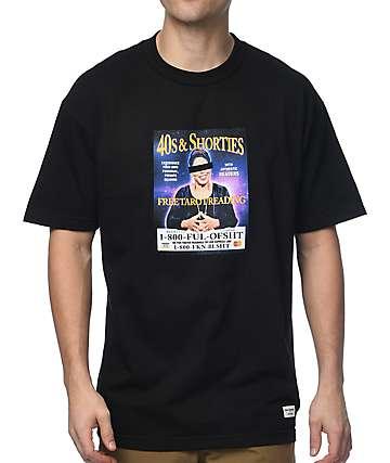 40s & Shorties Tarot Reading Black T-Shirt