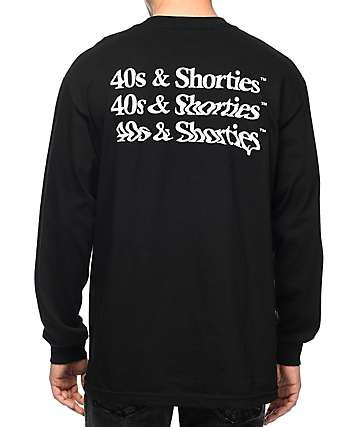 40s & Shorties Trippy Black Long Sleeve T-Shirt